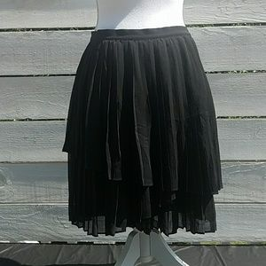JOIE Avenia black chiffon pleated party skirt sz 8